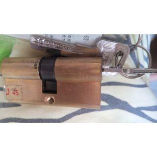 Metal Gate Computer Key Brass Lock Cylinder For Sale