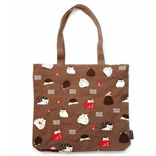 刺蝟 Hedgehog 帆布 環保袋 Polka Polka Hedgehog Canvas Tote Bag 日本直送 (包平郵或本地郵局自取)