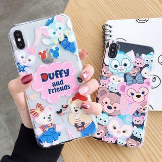 (Y)手機殼IPhone6(s)/7/8/Plus/XR/X(S)/MAX : 塗鴉達菲熊兔子Duffy