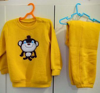 Korean boys monkey set, sweater, baju hangat MARKDOWNS!
