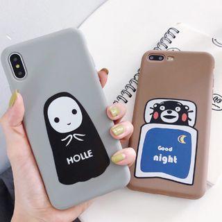 (Y)手機殼IPhone6(s)/7/8/Plus/XR/X(S)/MAX : 熊本熊/無男臉