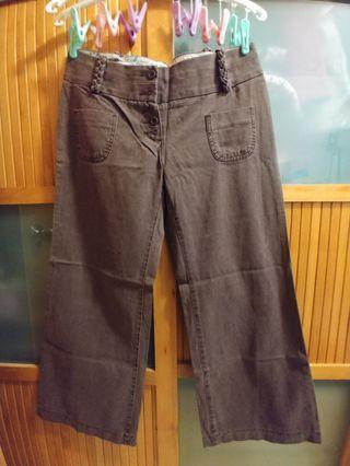 M&S 啡色低腰褲