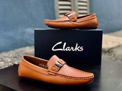 Loafer Clarks Pin Beige Men's shoes Kasut lelaki