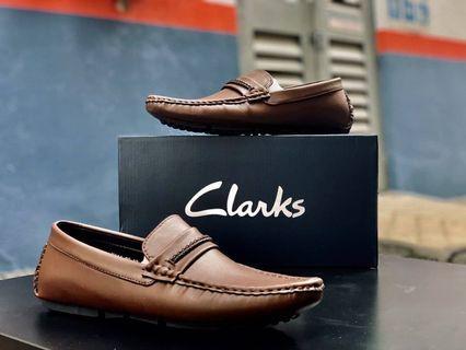 Clarks Loafers Rope Brown Men's shoes Kasut lelaki