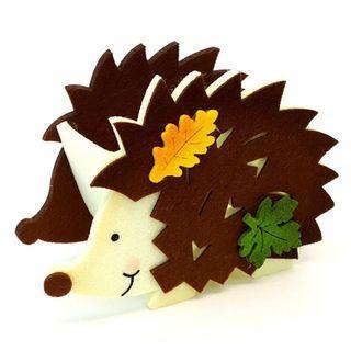 刺蝟 Hedgehog 收納小物籃 Cute Felt Bag 日本直送 (包平郵或本地郵局自取)