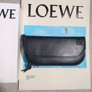 <二手良品> Loewe Gate Continental Wallet Black/Oxblood 招財 長夾 錢包 黑