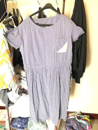 日本設計~文青風洋裝。free size,少穿,近全新