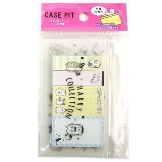 刺蝟 Hedgehog 可貼記事紙連小袋 Harry Collection Sticky Note Pad with Plastic Case 日本直送 (包平郵或本地郵局自取)