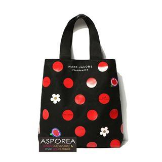 Instock MARC JACOBS FRAGRANCES Black n Red Polka Dots Tote Bag ASC399 + Free Post!