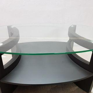 Solid Oval Shape Glass Table Top
