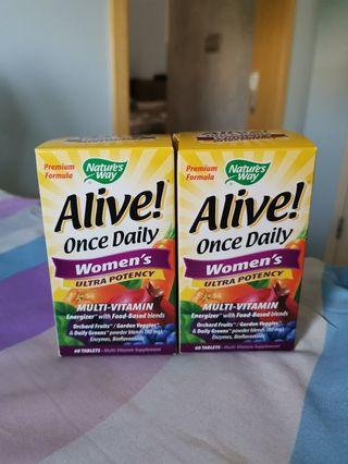 *CLEARANCE ALIVE once daily women's multi vitamin