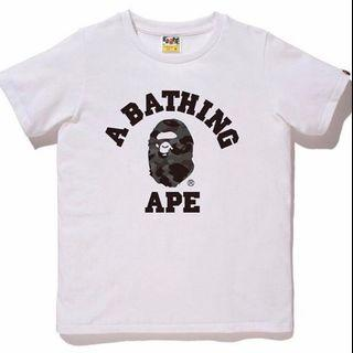 bape college t shirt