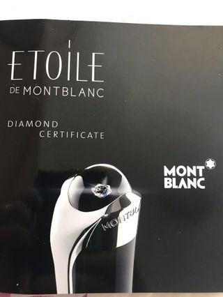 MontBlanc Etoile Diamond Pen and matching cufflinks