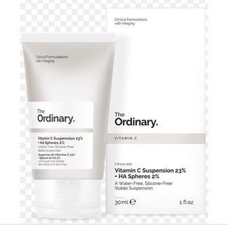 The Ordinary Vitamin C Suspension 23% + HA Spheres 2% 30ml - For Uneven Tone, Signs of Age