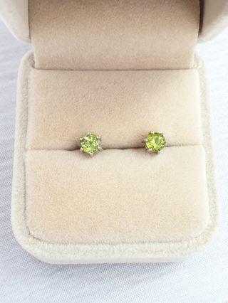 🚚 Natural Peridot Gemstone 925 Sterling Silver Earrings Studs #endgameyourexcess