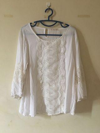 White lace blouse top