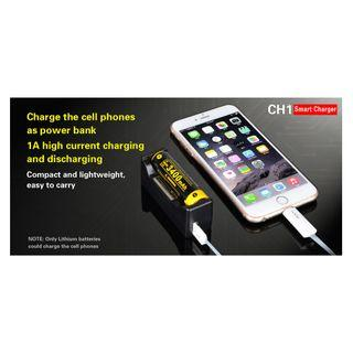 Klarus CH1 Li-Ion/Ni-Mh Hybrid Smart Ultra-Compact Powerbank Single-Bay Charger