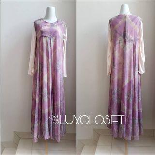 Dian Pelangi 2pieces purple dress