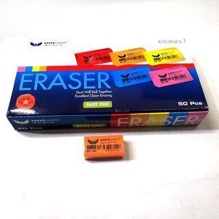 [1 BOX / 50PCS] Unicorn EC50 Dust Free Eraser
