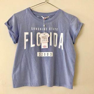 Florida Baby Blue Supre Baby Tee crop top