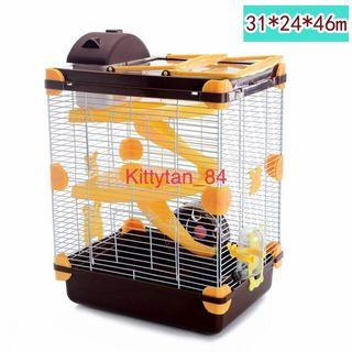 Brown Hamster Cage