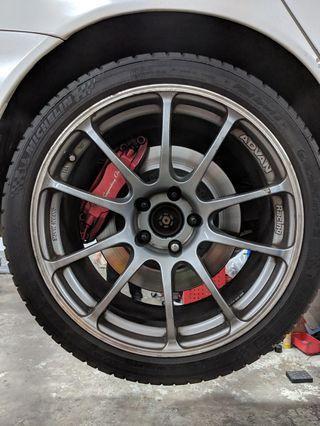 "Looking to trade original Advan RS 18"" with original Enkei RPF1 17"""