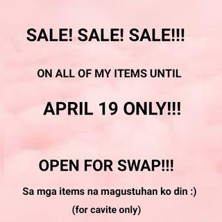 ALL ITEMS SALE