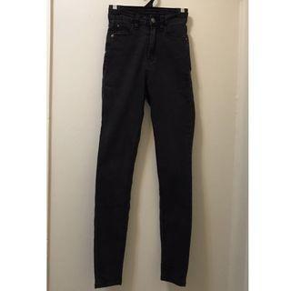 Supre high waisted black denim skinny jeans