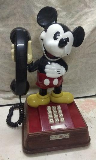 懷舊香港 80年代迪士尼米奇老鼠座枱電話