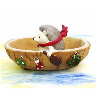 刺蝟 小船 多肉植物花盆 擺設 *不包括植物* Hedgehog Small Boat Resin Flower Pot Small Succulent Plant (包本地郵局自取)