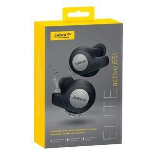 Jabra Elite Active 65t True Wireless Earbuds (Titanium Black) w 2 yr warranty