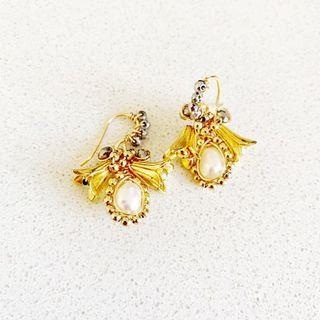 Hand made unique gold plated earrings! ✨
