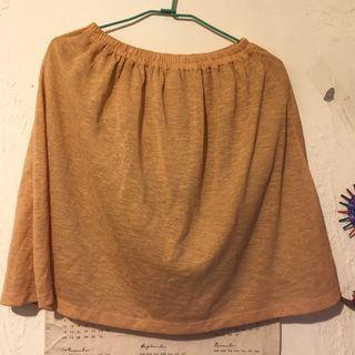 日系文青風 黃色麻紗及膝裙(MUJI Uniqulo Leme Studio Mercci22 Grandmom 可參考) #半價衣服拍賣會