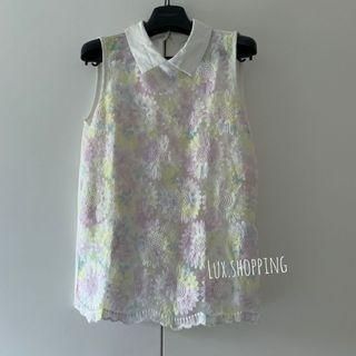 韓國 🇰🇷 afternoon cat 買 299 碎花背心 雪紡 粉紅色 藍黃色 floral chiffon blouse 番工 OL 恤衫