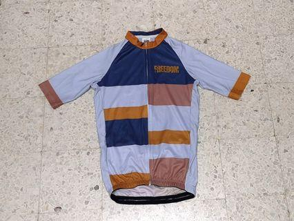High Quality Blue Checkered Cycling Jersey