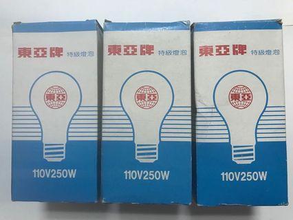 🚚 東亞牌特級燈泡/110V250W