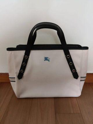 154d6e3ba0aa Burberry Blue Label - White Structured Tote
