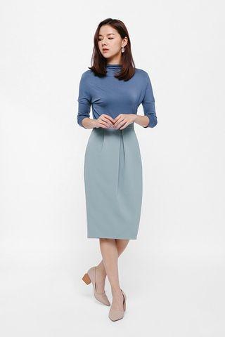 Love Bonito Josefia Inverse Pleat Pencil Skirt (BNWT)