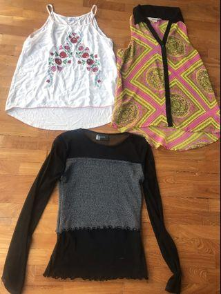 3 piece ladies Top's Moving Out Last Call