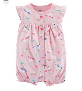 BN Carters Baby Girl Snap Up Unicorn Romper 6m/12m/18m avail!