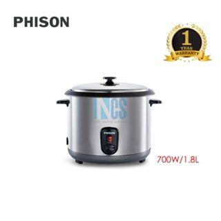 Phison Stainless Steel Rice Cooker 1.8 Liter - Non Stick Coating (PRC-8218)