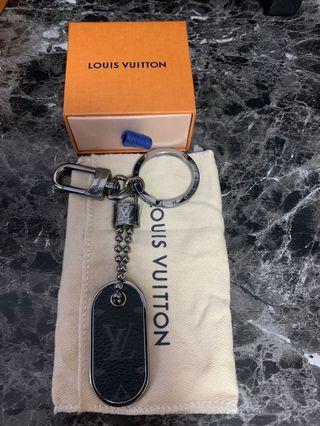Louis Vuitton Monogram Eclipse ID Keychain
