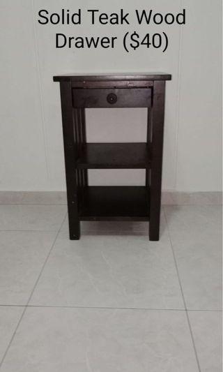 Drawer (Solid Teak Wood)