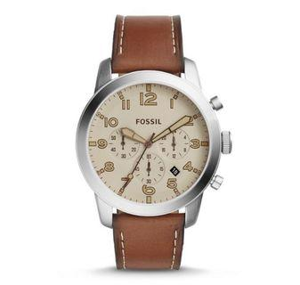 Fossil Men's chronograph brown Leather Watch
