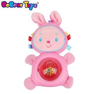 BNIB cloth book baby plush toys stuffed toys rattle teether squeaky for cots cribs