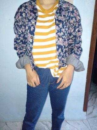 Jaket jeans motif