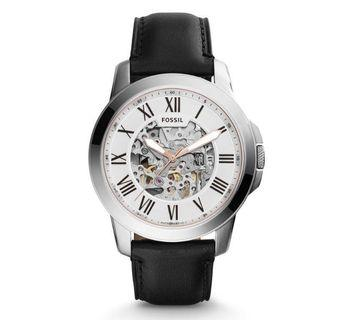 Fossil Men's Automatic Black Leather watch