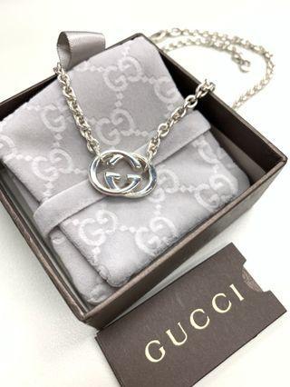 🈹全新New💕Gucci 45cm necklace silver 銀鏈 頸鏈 項鍊。*not LV Hermès Chanel Fendi Prada Chole Celine