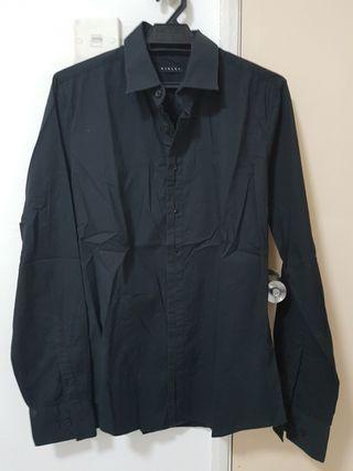 Sisley Black Slim Fit Black Shirt