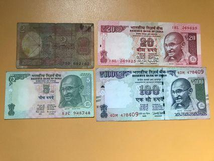 Old India Rupees Set Lot Rare